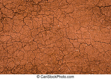 Dry land surface with cracks