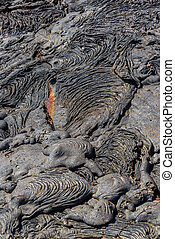 Dry Lava Flow - Dry lava flow on Santiago Island in the...