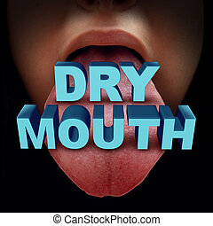 Dry Mouth Medical Concept - Dry mouth medical concept or...