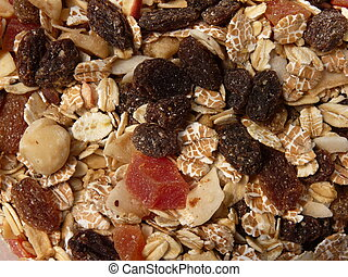 Dry Muesli With Fruits and Nuts