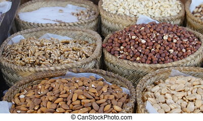 Dry nuts on the market - Dry fruits and nuts on the market...