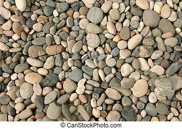 Dry Pebbles - A dry creekbed of round stones.