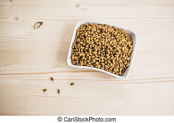 Dry pet nutrition In the bowl