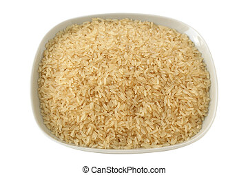 dry rice on a plate