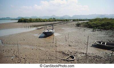Dry river. Vietnam Asia 4K