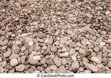 Dry round reeble stones
