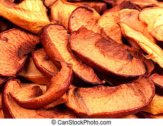 Dry slices of apple