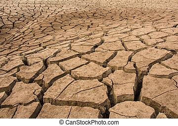 Dry soil crack background