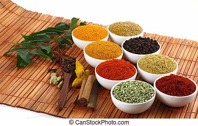 dry spicy powders