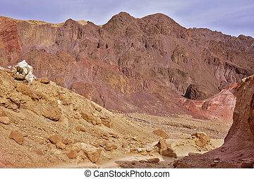 Dry stone desert near the southern seaside resort of Eilat, Israel.