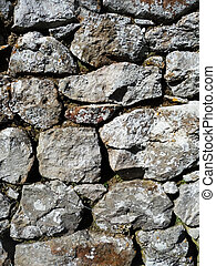 Dry Stone Wall - A traditional dry stone wall. Made from ...