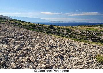 dry stone wall Stara Baska 09