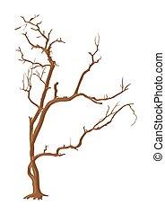 Dry Tree - Abstract Spooky Horrible Halloween Dead Tree ...