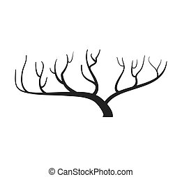 Dry Tree icon. Nature design. Vector graphic - Nature and ...