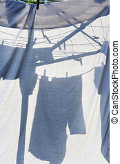 dry washing - clothes on the rack