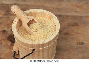 Dry white sesame seeds