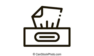 Dry Wipes Package Icon Animation. black Dry Wipes Package animated icon on white background