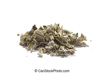 Dryed Sage isolated on white