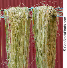 Drying Flax Fiber