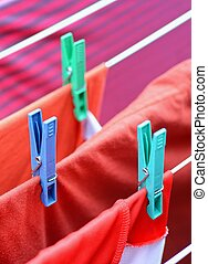 Drying on clothesline