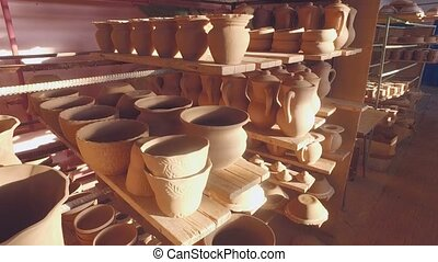Drying the pottery before firing. UltraHD (4K)