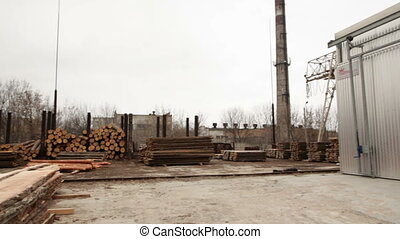 Drying wood industrial