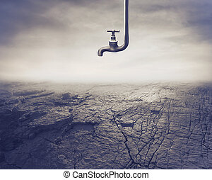 dryness - tap off on dry land