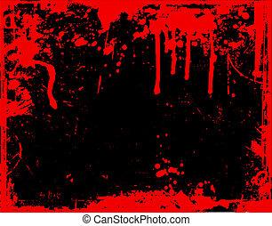 drypande, blod