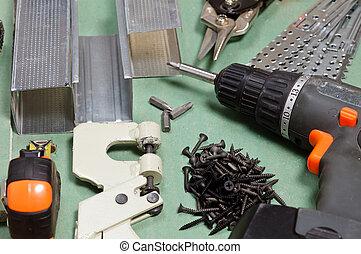 drywall, redskaberne, sæt