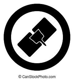 Drywall repair  icon black color in circle
