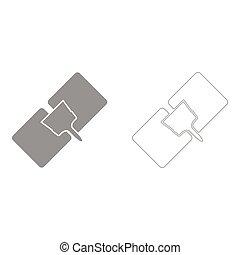 Drywall repair  set  icon .