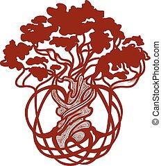 drzewo, świat, celtycki