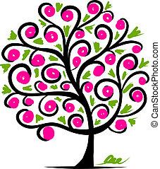 drzewo, abstrakcyjny zamiar, twój