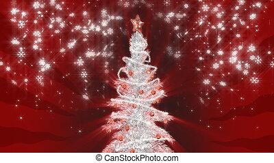 drzewo, boże narodzenie, srebro