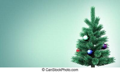 drzewo, boże narodzenie, tło