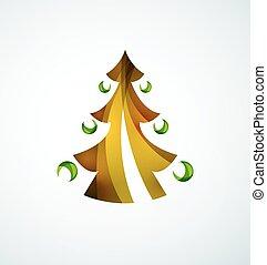 drzewo, geometryczny zamiar, boże narodzenie