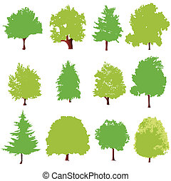 drzewo, ikony