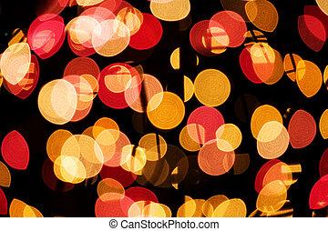 drzewo, oświetlenie, boże narodzenie zapala