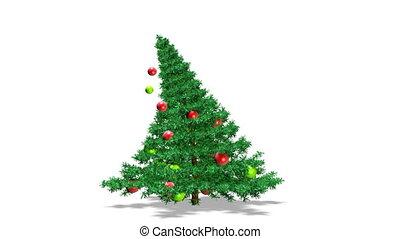 drzewo., ożywienie, boże narodzenie
