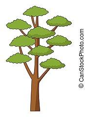 drzewo, park, rysunek, natura