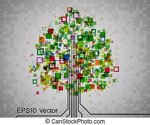 drzewo, pixel