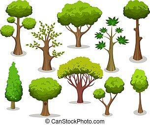 drzewo, rysunek, zbiór