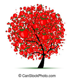 drzewo, twój, jabłko, projektować, energia