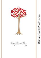 drzewo, valentine