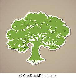 drzewo., wektor