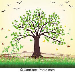 drzewo, wektor