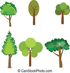 drzewo., zbiór, od, zaprojektujcie elementy