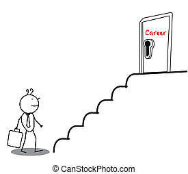 drzwi, kariera, biznesmen