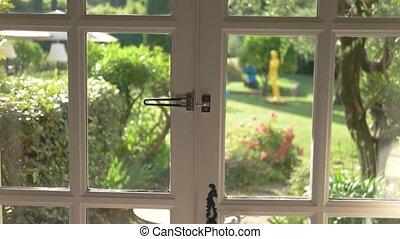 drzwi, nature., otwarty