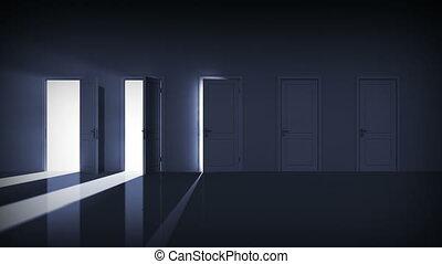 drzwi, opening., dobry, choice., alfa